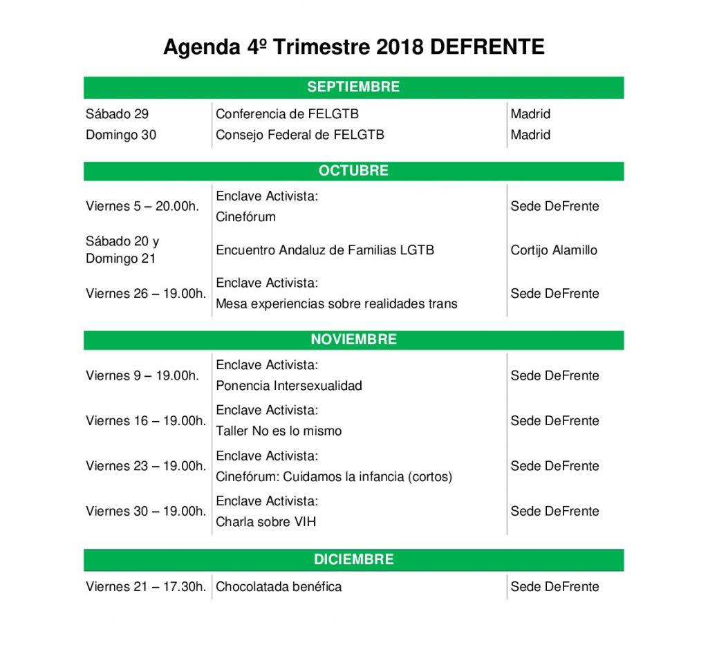 agenda otoño DeFrente